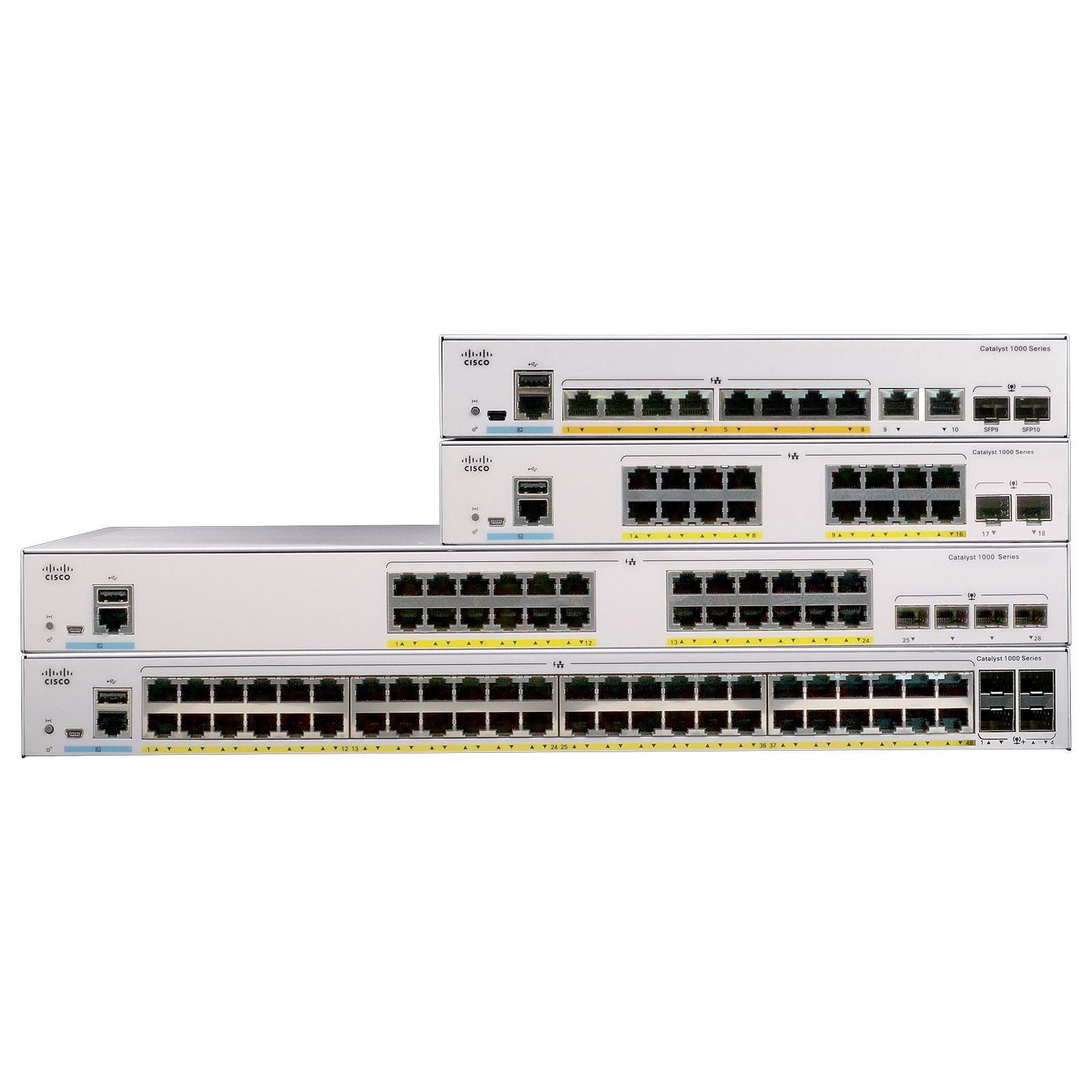 Cisco Catalyst 1000 C1000-16FP-2G-L Switch manageable 16 ports 10/100/1000 Mbps PoE+ + 2 ports SFP