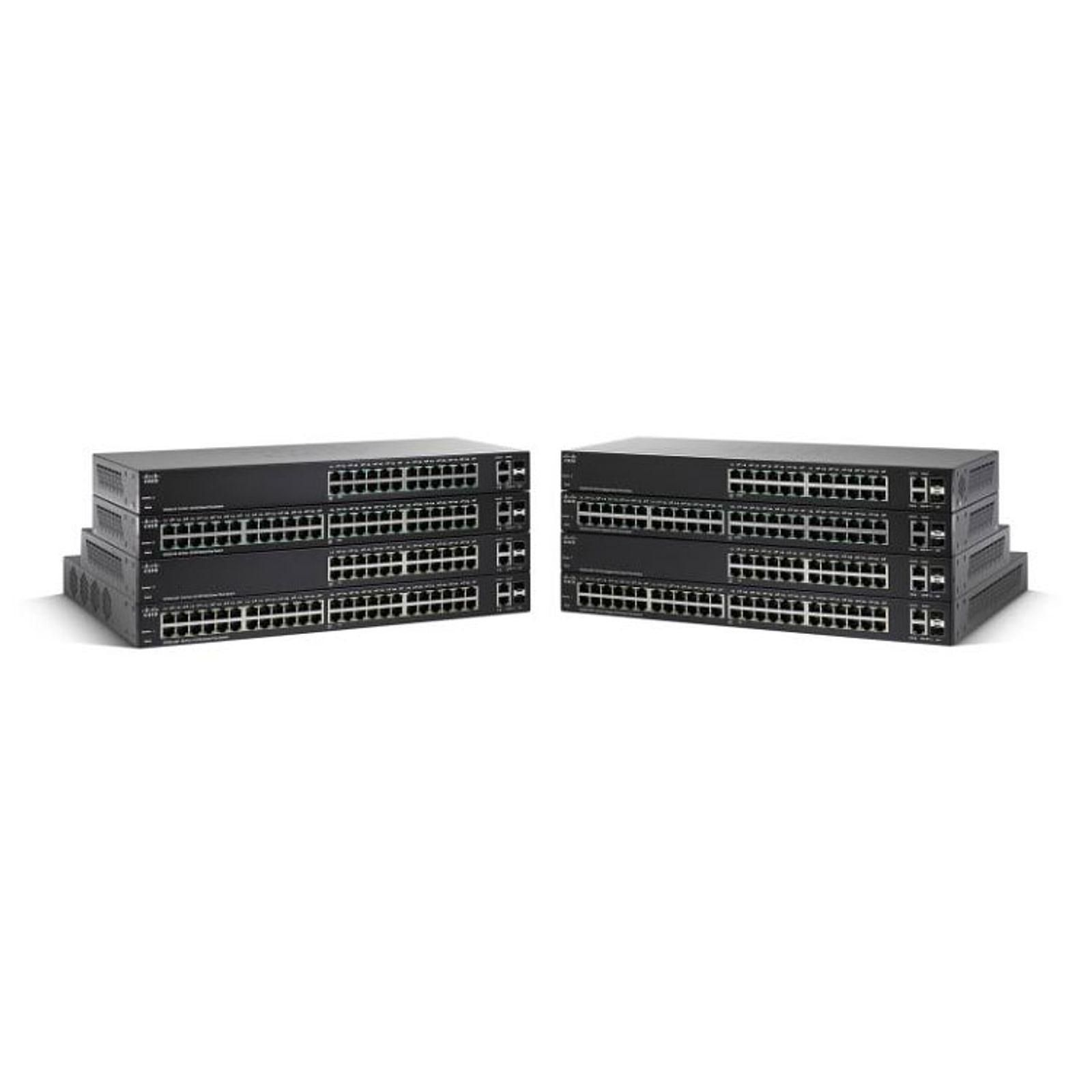 Cisco SG220-50P Switch Small Business Smart Plus Gigabit 48 ports PoE + 2 ports combo SFP